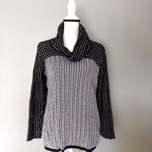 Unique Textured Calvin Klein Cowl Neck Sweater